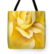 Yellow Rose Close Up Tote Bag