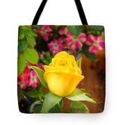 Yellow Rose In Bloom Tote Bag