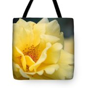 Yellow Rose Macro Tote Bag
