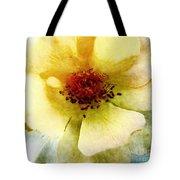 Yellow Rose Painted Tote Bag