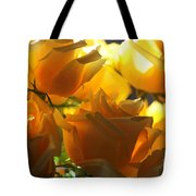 Yellow Roses And Light Tote Bag