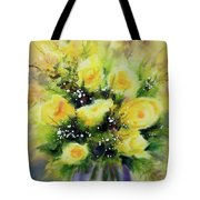 Yellow Roses Tote Bag by Kathy Braud