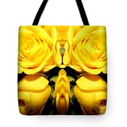 Yellow Roses Mirrored Effect Tote Bag