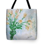 Yellow Roses Tote Bag by Molly Roberts