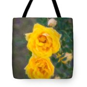 Yellow Roses On A Bush Tote Bag