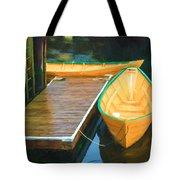 Yellow Rowboats Tote Bag