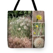 Yellow Salsify Collage Tote Bag