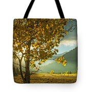 Yellow School House Tote Bag