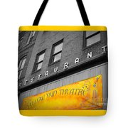 Yellow Sign Theatre Tote Bag