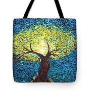 Yellow Squiggle Tree Tote Bag