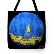 Yellow Submarine Baseball Square Tote Bag