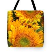 Yellow Sun Flower Burst Tote Bag