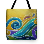 Yellow Sun Surf Tote Bag