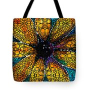 Yellow Sunflower - Stone Rock'd Art By Sharon Cummings Tote Bag
