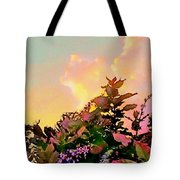 Yellow Sunrise And Flowers - Vertical Tote Bag