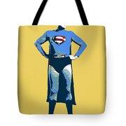 Yellow Superman Tote Bag