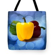 Yellow Sweet Pepper - Square - Textured Tote Bag