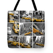 Yellow Taxis Collage Tote Bag