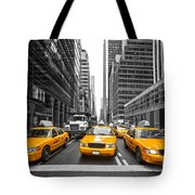 Yellow Taxis In New York City - Usa Tote Bag