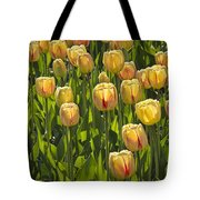Yellow Tulip Flowers On Windmill Island In Holland Michigan Tote Bag