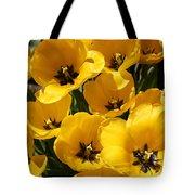Golden Tulips In Full Bloom Tote Bag