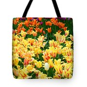 Yellow Tulips In Bloom Tote Bag