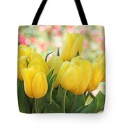 Yellow Tulips In The Spring Garden Tote Bag
