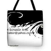 Yellow Wave Abstract Tote Bag