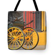 Yellow Wheeled Carriage In Seville Tote Bag