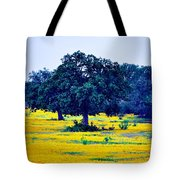 Yellow Wildflowers After Sunrise Tote Bag