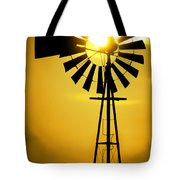 Yellow Wind Tote Bag