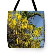 Yellow Wisteria Blooms Tote Bag