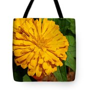 Yellow Zinnia Tote Bag