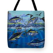 Yellowfin Run Off002 Tote Bag by Carey Chen