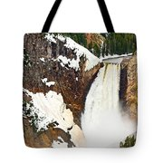 Yellowstone Falls From Lookout Point. Tote Bag