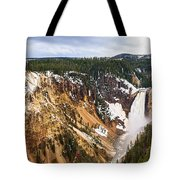 Yellowstone Falls Panorama Tote Bag