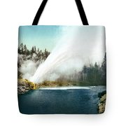 Yellowstone Geyser, C1905 Tote Bag