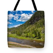 Yellowstone Gibbon River Tote Bag