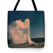 Yellowstone -- Old Faithful Vintage Tote Bag
