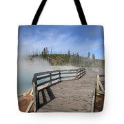 Yellowstone Park - West Thumb Geyser Basin Tote Bag