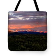 Yellowstone Sunset Tote Bag