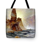 Yellowstone Tower Falls Tote Bag