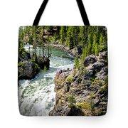Yellowstone - Upper Falls Tote Bag