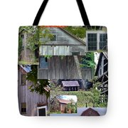 Yesterday Barns Collage Tote Bag