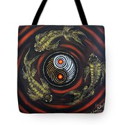 Yin Yang - Koi Fish Tote Bag