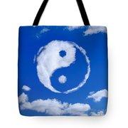 Yin-yang Symbol Made Of Clouds Tote Bag