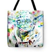 Yoda Watercolor Portrait.1 Tote Bag