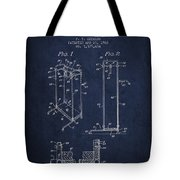 Yoga Exercising Apparatus Patent From 1968 - Navy Blue Tote Bag