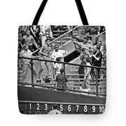 Yogi Berra Home Run Tote Bag by Underwood Archives