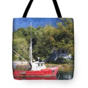 York Harbor Maine Painterly Effect Tote Bag
